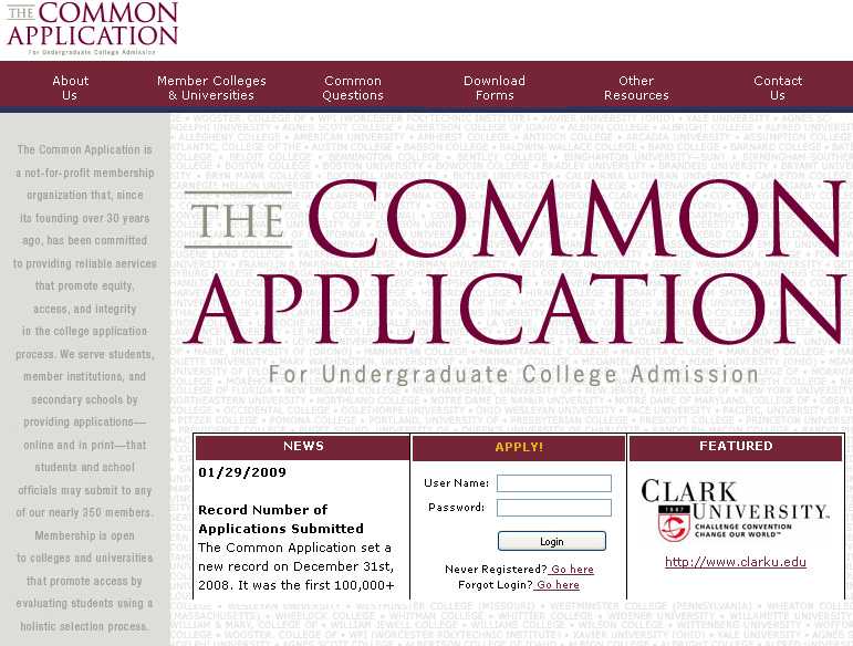 Common College Application